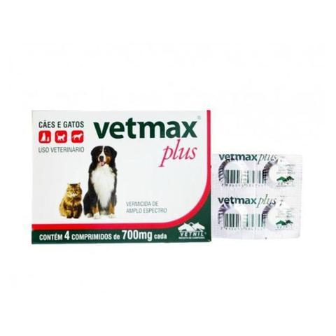 Imagem de 3 Vetmax Plus Vermifugo Para Cães 10kg 4 Comprimidos