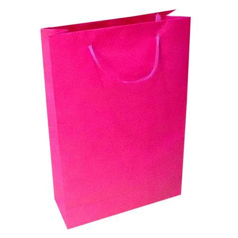 Imagem de 30 Sacolas De Papel Rosa Pink Presente 25x17x6cm Bolsa Festa