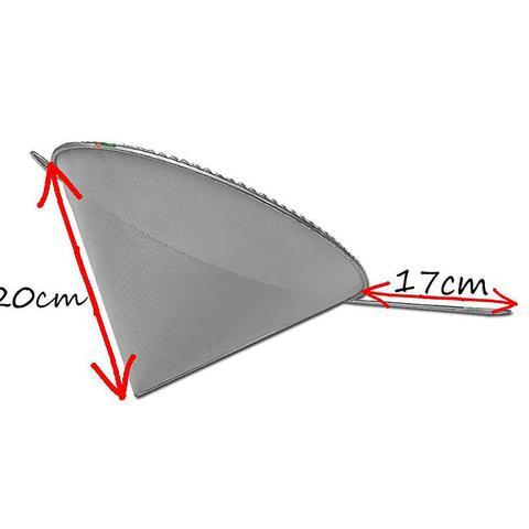 Imagem de 3u Coador E Funil C/ Cabo P/ Óleo Inox 20x28cm Cônico Cone