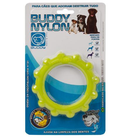 Imagem de 4 Brinquedos Roer Morder Cães Boneco + Cenoura + Disco + Milho Buddy Nylon Buddy Toys