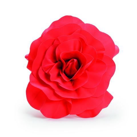 Imagem de 4 Flores decorativas p/ Painel Vermelha 40cm  Dec. Festas