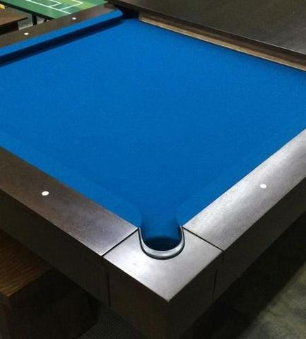 Imagem de 4 Mt Tecido Pano 100% Lã Azul Para Mesa Sinuca Profissional Bilhar