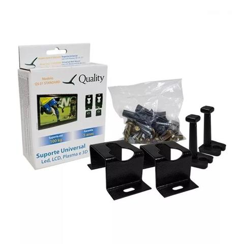 Imagem de 4 Suporte Fixo universal TV Led 4K LCD Plasma Samsung Lg Sony AOC 26 32 40 42 43 46 47 50 55 60 65