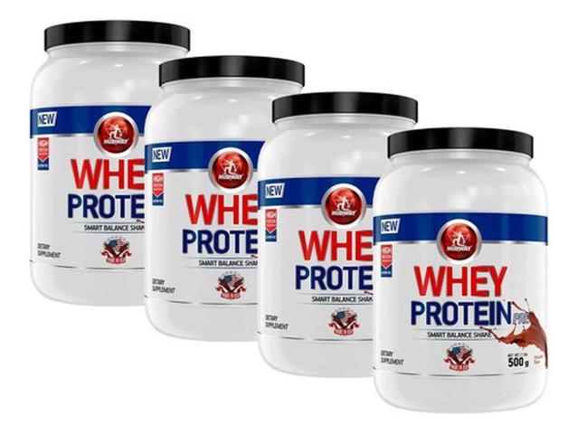 Imagem de 4 Whey Protein Concentrado 500g Cada Midway Labs