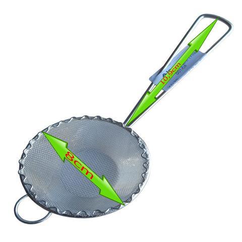 Imagem de 4un Peneira Coador Para Óleo Sucos Chá Leite Em Aço Inox 8cm