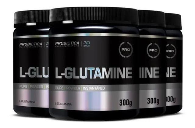 Imagem de 4x Glutamina 300g (1200 kg) Probiotica