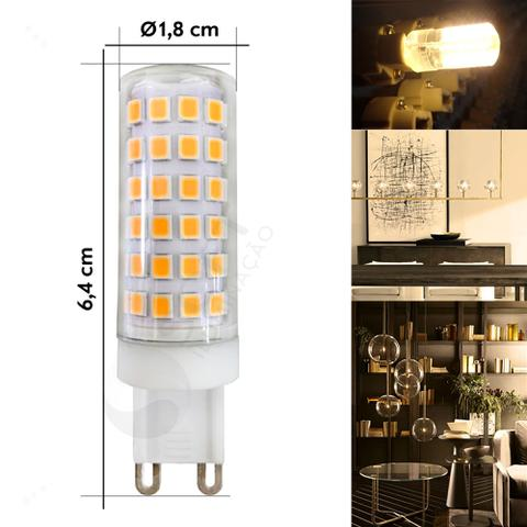 Imagem de 5 Lâmpadas Halopin LED G9 10W 220V Luz Branca Quente/3000K - P/Lustres Luminárias e Arandelas