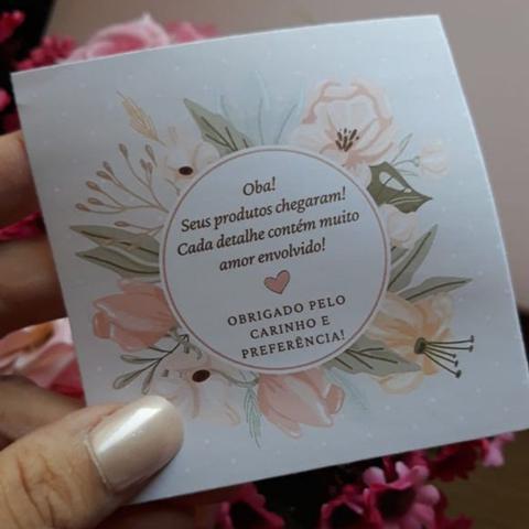 Imagem de 50 Cartas De Agradecimento Pela Compra - Sulfite 50 Cartas