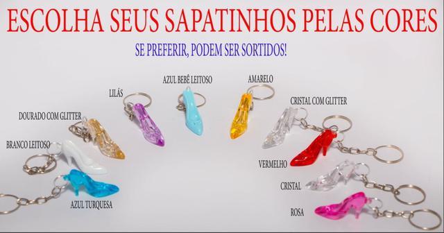 Imagem de 50 sapatinhos com chaveiro para casamento