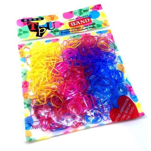 Imagem de 500 Unidades Elásticos De Silicone Coloridos Para Cabelo