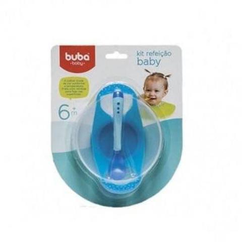 Imagem de 5231 Kit Prato Bowl Com Colher Buba Toys Azul