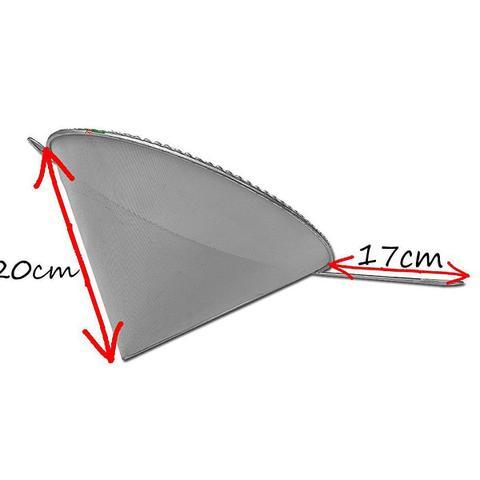 Imagem de 5u Coador E Funil C/ Cabo P/ Óleo Inox 20x28cm Cônico Cone