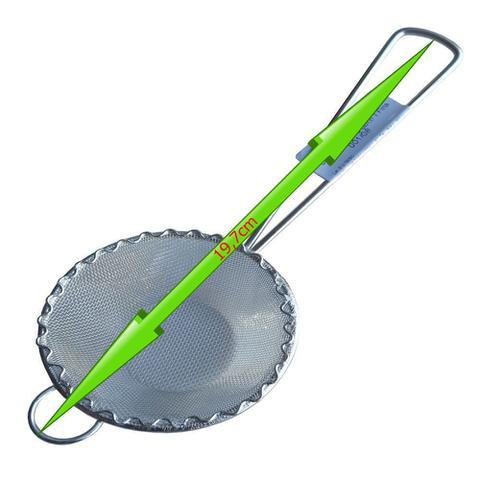 Imagem de 5un Peneira Coador Para Óleo Sucos Chá Leite Em Aço Inox 8cm
