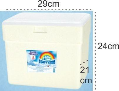 Imagem de 6 Caixas Térmica Isopor 8 Litros Gelo Cerveja Refri Isoterm