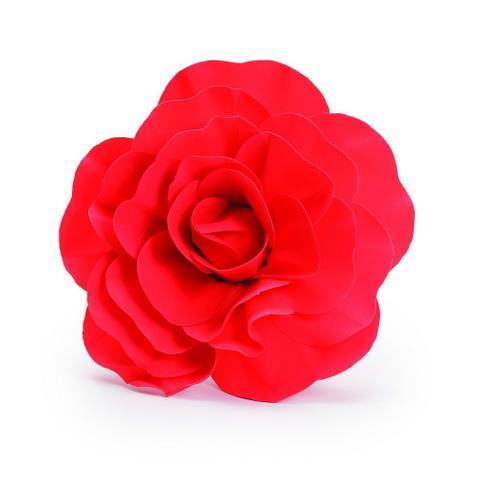 Imagem de 6 Flores Decorativas P/ Painel Vermelha 30Cm  Dec. Festas