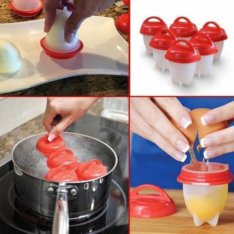 Imagem de 6 Forma Copo De Silicone Para Cozinhar Ovo Egglette Dieta