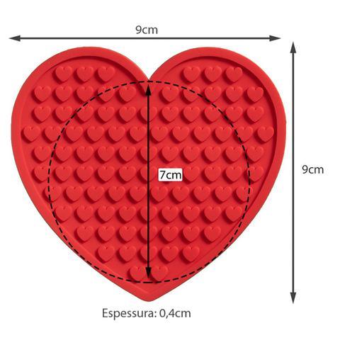 Imagem de 6 Porta Copos Coração decoração romântico mimos