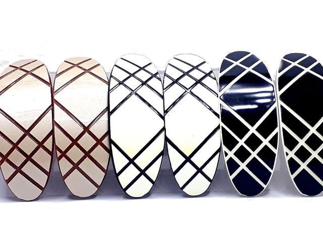 Imagem de 6 Prendedores de Acrílico Super Luxo Grampo para Cabelo - 4205