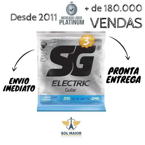 Imagem de 6 X Encordoamentos Guitarra 010 - Sg com Corda E Palheta