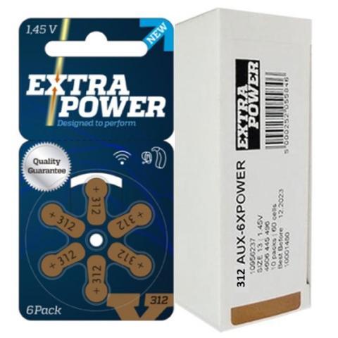 Imagem de 60 Baterias / Pilhas para Aparelho Auditivo - tamanho 312