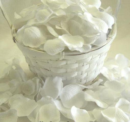Imagem de 600 Pétalas Artificiais Brancas Perfumadas - Aroma a sua Escolha