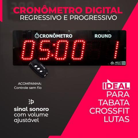 Imagem de 700.000655.000 - Cronômetro Digital Regressivo e Progressivo Multeletronic Com Controle Vermelho