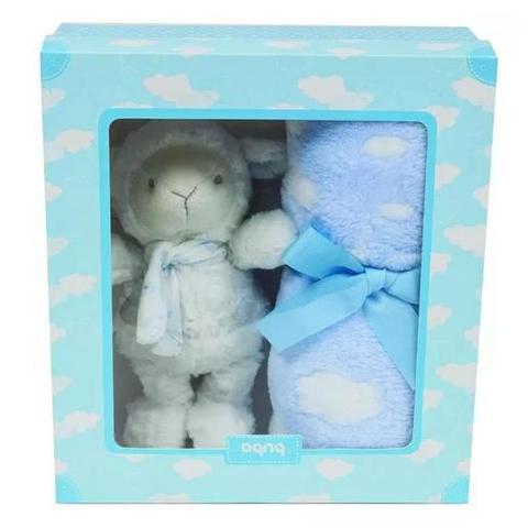 Imagem de 7571 kit manta + ovelhinha dos sonhos buba azul