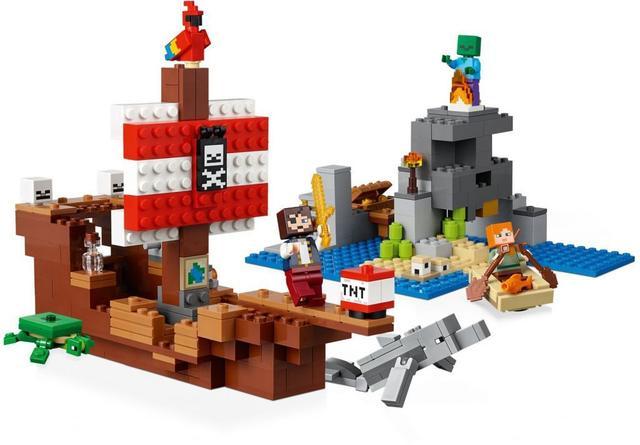 Imagem de A Aventura do Barco Pirata Minecraft - Lego 21152