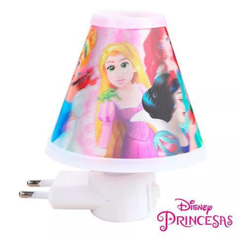 Imagem de Abajur Infantil Princesas Lampada Luminária Tomada Bivolt