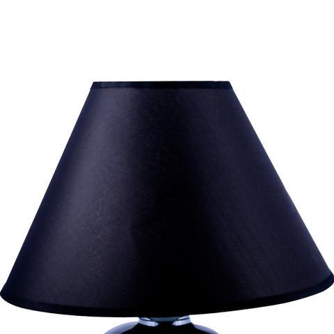 Imagem de Abajur mascote 34cm base cerâmica preta e-27 max 60w cúpula preta