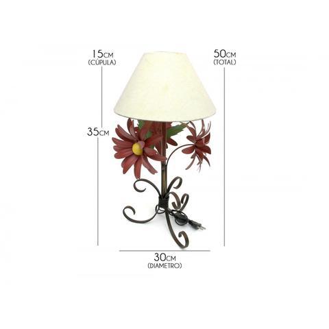 Imagem de Abajur Rustico Quarto De Casal em Ferro Artesanal com Flores