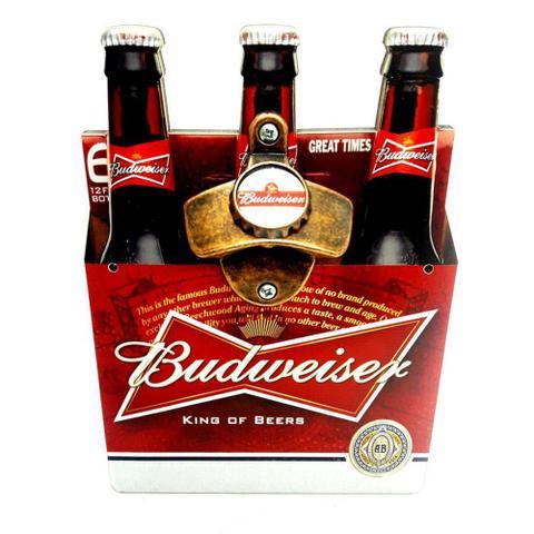 Imagem de Abridor de Garrafa c/ Ímã e Adesivo Engradado Cerveja Budweiser