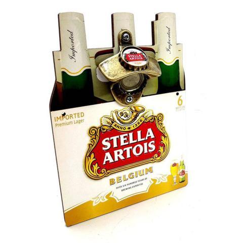 Imagem de Abridor de Garrafa com Ímã e Adesivo Engradado Cerveja Stella Artois