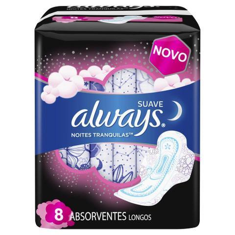 Imagem de Absorvente Always Noites Tranquilas Suave com abas 8 Unidades