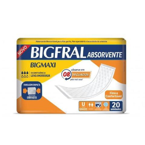 Imagem de Absorvente geri. bigfral maxi 10 pct. c/20 cxf