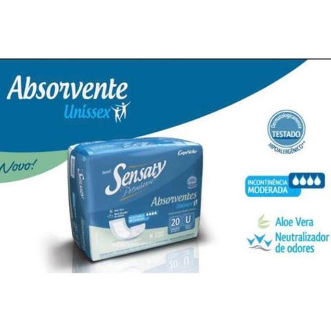 Imagem de Absorvente Geriatrico  Sensaty C/fita adesiva 240 Unidades.