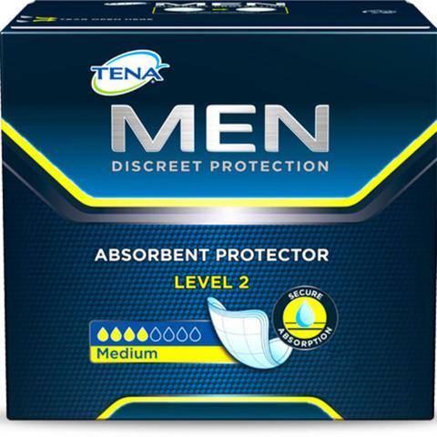 Imagem de Absorvente geriatrico tena masculino discreet protection