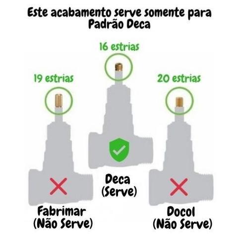 Imagem de Acabamento Luxo Registro 1/2 A 3/4 Serve Deca Similares C40