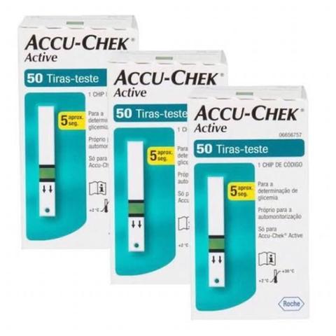 Imagem de Accu-Chek Active 150 tiras reagentes 3 cx com 50
