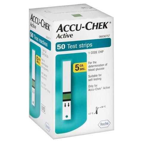 Imagem de Accu-Chek Active Com 50 Tiras Testes Controle de Glicemia Roche