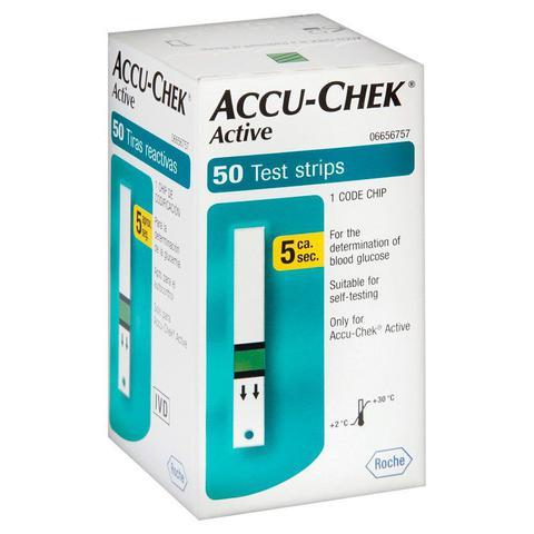 Imagem de Accu Chek Active Roche Com 50 Tiras Sem Chip