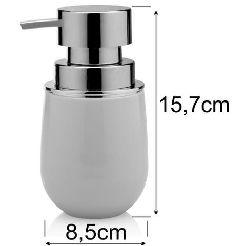 Imagem de Acessórios Banheiro 5 Peças New Belly Branco Banheiro Lavabo