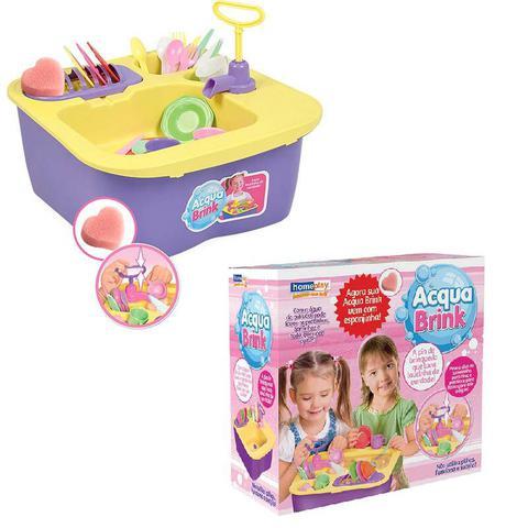 Imagem de Acqua Brink Pia Cozinha Louças Homeplay XPlast Home Play Brinquedo Infantil 8000