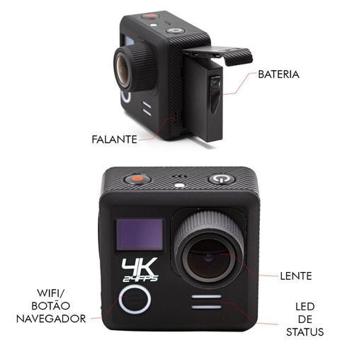 Imagem de Action Câmera 4k Ultra Hd 3840x2160 Wi-fi A Prova D'agua 30m