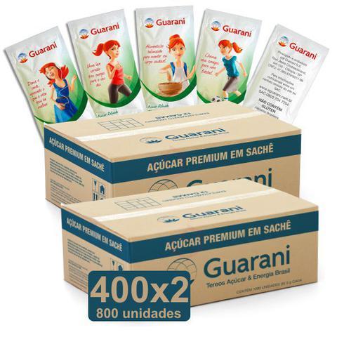 Imagem de Açucar em Sachê 5g Caixa 2x400 und Guarani  Refinado Premium
