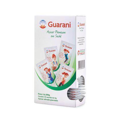 Imagem de Açúcar refinado guarani sachê 5g caixa 40 unidades