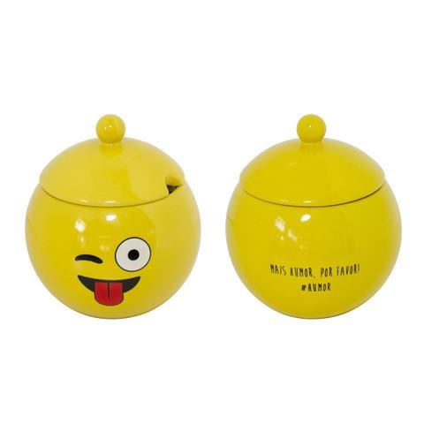 Imagem de Açucareiro De Cerâmica Amarelo Humor 152124 Mondoceram
