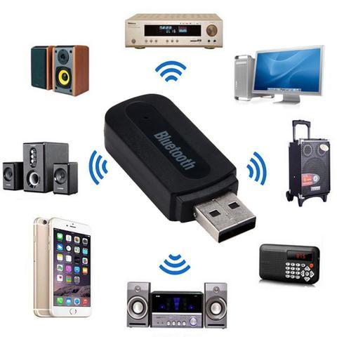 Imagem de Adaptador Áudio Bluetooth P2 e Usb Receptor Música YET - M1