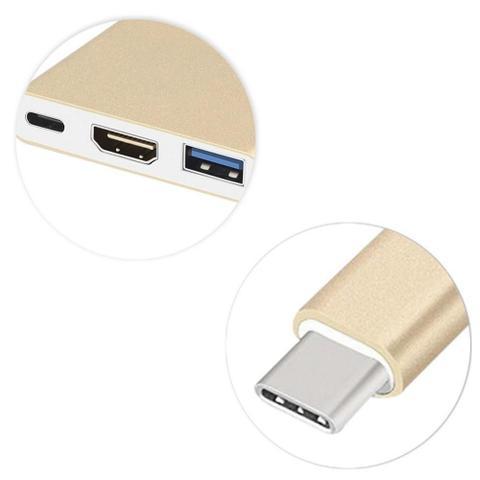 Imagem de Adaptador Conversor USB 3.1 Type C Thunderbolt 3.0 x HDMI USB 3 Tipo C