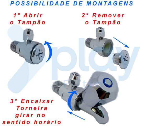 Imagem de Adaptador Cromado ABS 1/4 Esmaltec, IBBL, Consul, Electrolux